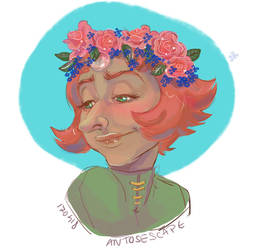 SU: Pearl flower crown by AntosEscape