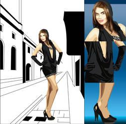 Girl Vector Illustration 1 by AryaInk