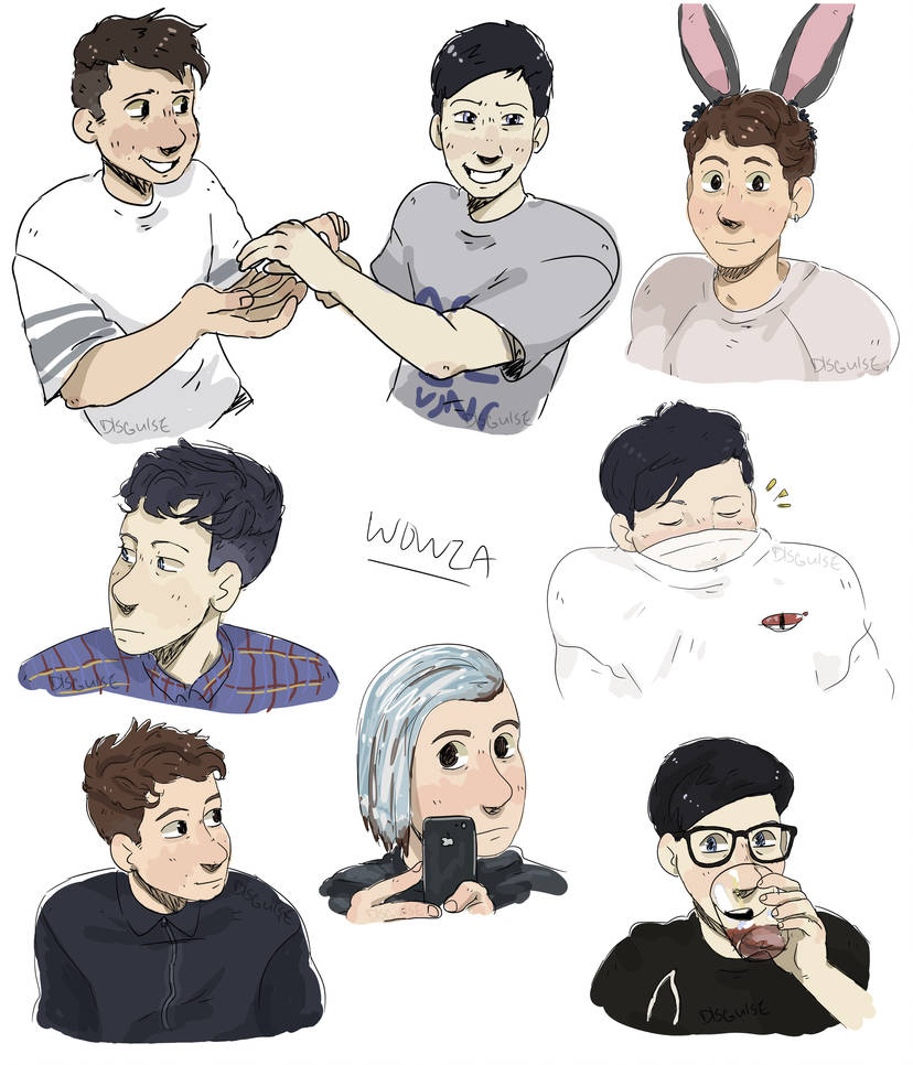 dan and phil sketches by DlSGUlSE
