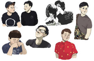 more dan and phil sketches wowza by DlSGUlSE