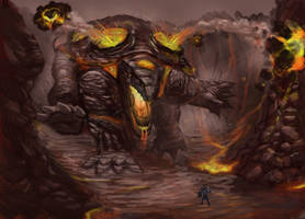 Rift: Fire Colossus by Ariel-Perspective