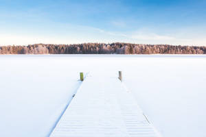 Winter lake by JuhaniViitanen