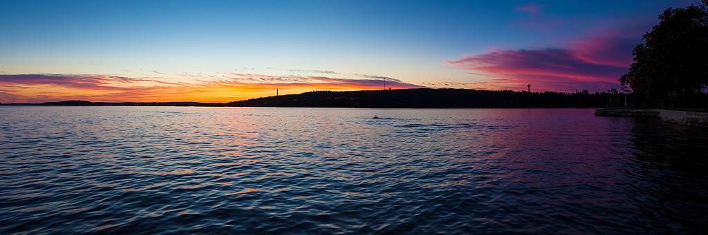 Sunset lake panorama by JuhaniViitanen