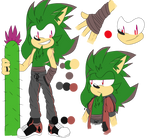 Cactus the hedgehog (GIFT) by KawaiiPotatoFox