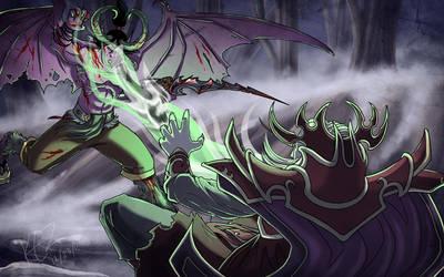 Terrorblade vs Kael by Kezhound