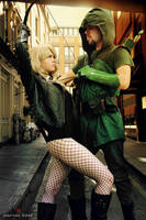 Green Arrow and Black Canary II by FioreSofen