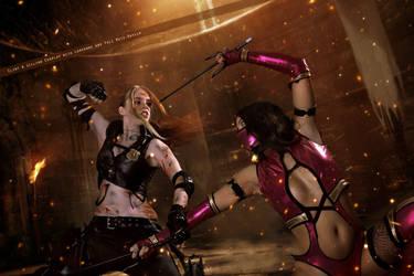 Sonya Blade and Mileena - Mortal Kombat by FioreSofen