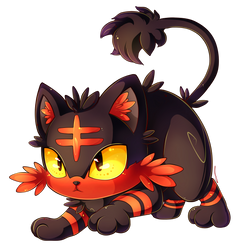 Litten approaches! by Invidiata
