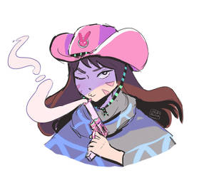 Cowboy D.va by Cyberrbully