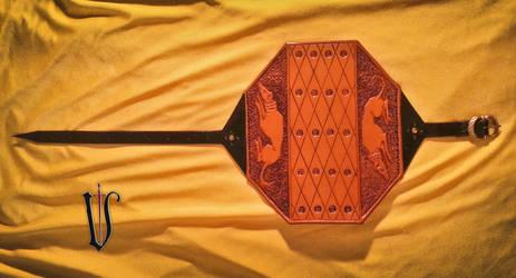 Medieval archer's bracer by Madenn