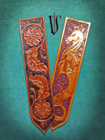 2 leather tooled bookmarks by Madenn