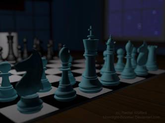 3D Chess Set by Moonlight-Bloomer