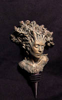 Dryad winestopper, front view by DellamorteCo