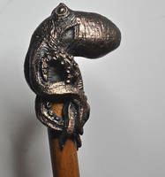 Kraken Cane, Bronze by DellamorteCo