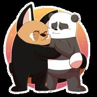 G: Chi-Chi and Panda by JetjetJ