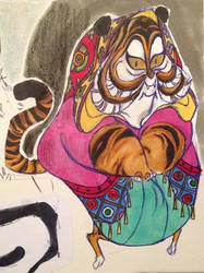Indian Tiger Lady by D00Mk1tty14