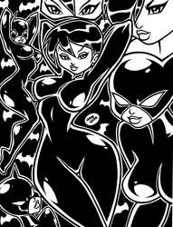 CATWOMAN Animated II INKS by AnyaUribe