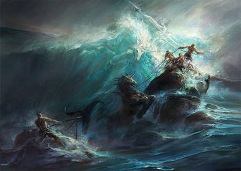 Poseidon's Wrath by GBrush