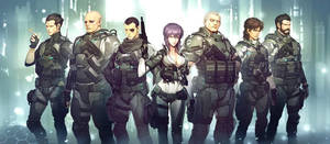 Ghost in the shell character concept design by tataar