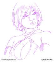 Yaya Han sketch by Thinkbolt