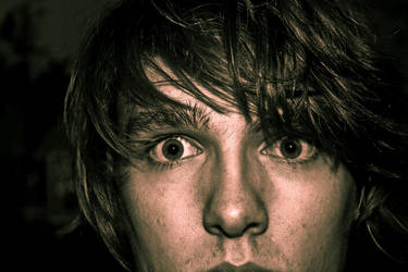 Not full face -  Self Portrait by RedishDragon