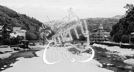 Merry Christmas Typography by hivernoir