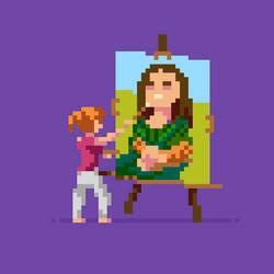 Mona Lisa by hivernoir