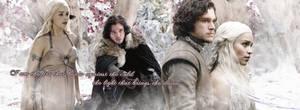 Daenerys and Jon by pinklatex