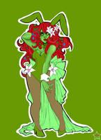poison ivy bunny girl by jewelians