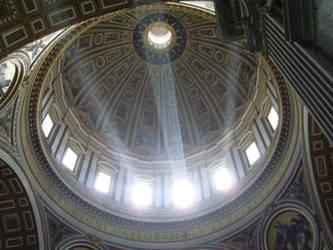 Sunshine in vatican Basilica by Microequinox