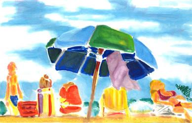 Beach Umbrella by Jarrad113