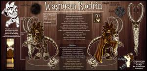 OC - Waguran [ref sheet] by MegiW