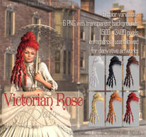 Victorian Rose HAIR by Trisste-stock-moved