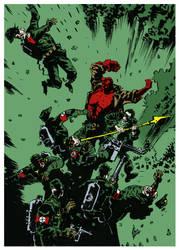 Hellboy Jack fight nazis by admat