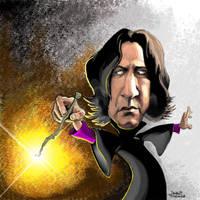 Severus Snape caricature by efdemon