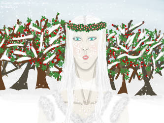 The Snow Queen WIth The Holly Crown by Beathyra
