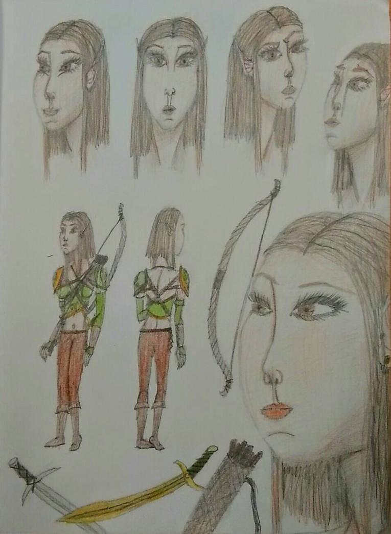 Merrine Freeleaf (concept art)  by Beathyra