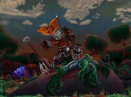 Hellscream Rampage! by koborquez