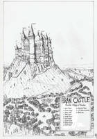 Private Illustration/map: Bran Castle 2014 by Traditionalmaps
