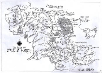 Private Commission: Middle Earth 2014 by Traditionalmaps