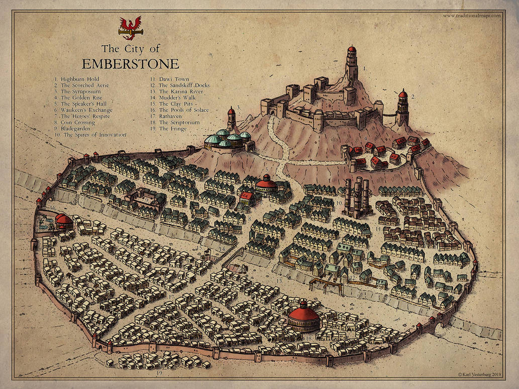 Commission 2018: Emberstone by Traditionalmaps