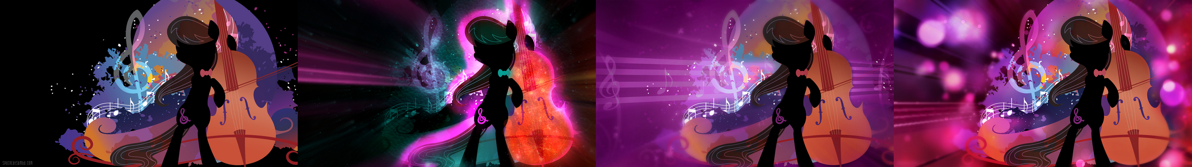 Octavia Melody Silhouette Wall Edited (Updated) by ConnieTheCasanova
