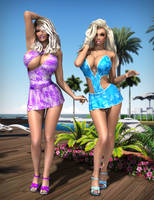 Jordan and Barbie - Poolside I by Dynamoob