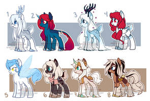 Bunch of adoptables (OPEN) by xWhiteDreamsx
