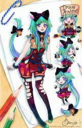 Seruki Mascot: Asuka by FranyBerry