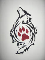 stencil-painting by wolf-lion