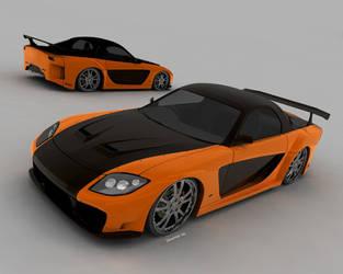 Fast 'n Furious RX7  v2 by L-X