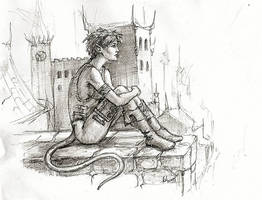 Annah - sketch by Deusuum