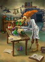 The Mad Alchemist by Deusuum