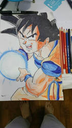 Kamehameha Dragonball Son Goku by marcusproductions